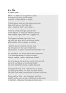eat me poem