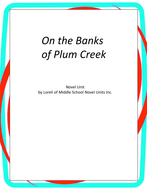 On the Banks of Plum Creek Novel Unit with Literary and Grammar Activities