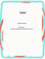 Sable Novel Unit With Literary and Grammar Activities