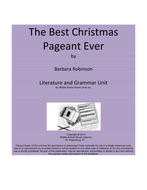 The Best Christmas Pageant Ever Literature and Grammar Unit
