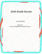 Sixth Grade Secrets Novel Unit with Literary and Grammar Activities