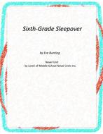 Sixth-Grade Sleepover Novel Unit With Literary and Grammar Activities