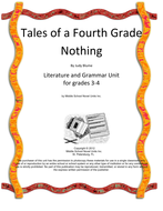 Tales of a Fourth Grade Nothing Book Unit with Literary and Grammar Activities