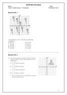 Transformations translations igcse math worksheet by teskm transformations translations igcse math worksheet ibookread ePUb