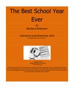 The Best School Year Ever Literature and Grammar Unit