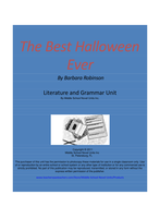 The Best Halloween Ever Complete Literature and Grammar Unit
