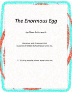 The Enormous Egg Novel Unit with Literary and Grammar Activities