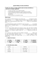 Spanish household chores writing practice A* model answer worksheet/ las tareas domésticas