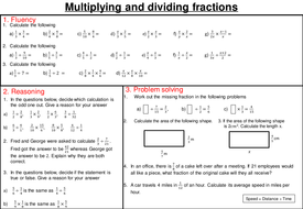 Multiplying and dividing fractions - mastery worksheet by joybooth ...