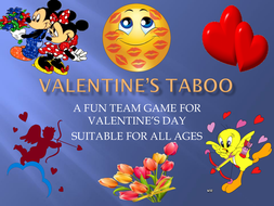 Valentine's Day Taboo - a fun team game!