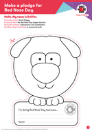 red nose day 2017 nose template by red nose day teaching