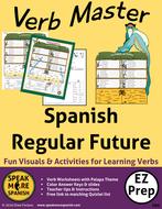 Spanish Verb Master for Regular Future Tense Verbs. Verbos del Futuro Regular