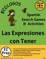 Spanish Verb Games for Tener Expresions. Lecciones y Juegos para las Expresiones con Tener