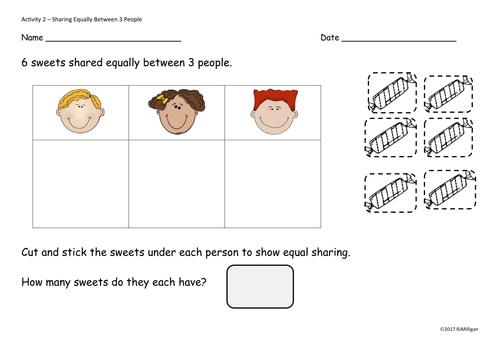 Common Worksheets » Sharing Equally - Preschool and Kindergarten ...