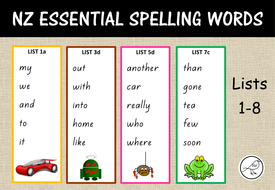 new zealand essential spelling lists cards by swelch resources teaching resources. Black Bedroom Furniture Sets. Home Design Ideas