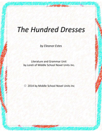 The Hundred Dresses Novel Unit with Literary and Grammar Activities