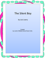 The Silent Boy Novel Unit With Literary and Grammar Activities