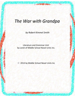 The War With Grandpa Novel Unit with Literary and Grammar Activities