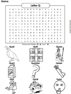 The Letter Q Word Search