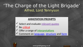 Alfred-Tennyson---'The-Charge-of-the-Light-Brigade'---Annotation---TES.pptx