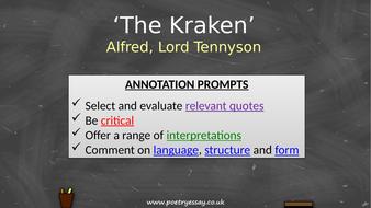 Alfred-Tennyson---'The-Kraken'---Annotation---TES.pptx