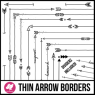 Skinny Borders: Arrow Doodles (Letter, Square, & Dividers)