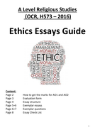 Ethics Essay Guide Ocr H  By Mayusri  Teaching Resources  Ethics Essay Guide Ocr H  How To Write A High School Application Essay also Environmental Science Essay Classification Essay Thesis Statement