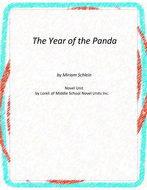 The Year of the Panda Novel Unit With Literary and Grammar Activities