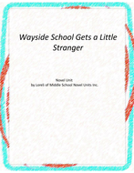 Wayside School Gets a Little Stranger Unit with Literary and Grammar  Activities