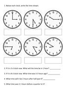 Year 4 Time Assessment KS2