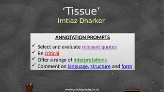 Imtiaz-Dharker---'Tissue'---Annotation---TES.pptx