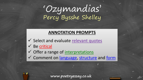 percy bysshe shelley ozymandias annotation by poetryessay percy bysshe shelley ozymandias annotation by poetryessay teaching resources tes