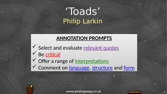 Philip-Larkin---'Toads'---Annotation---TES.pptx