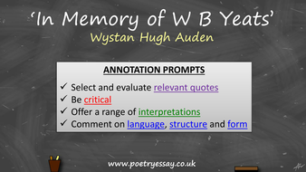 auden in memory of yeats
