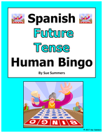 Spanish Future Tense Human Bingo Game Speaking Activity