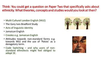 Language and Ethnicity: A Level English Language AQA