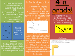 New GCSE foundation differentiated starter activities (1-8)