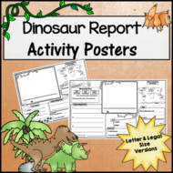 Dinosaur Research Activity Posters