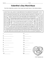 Valentine's Day: Word Puzzles Packet