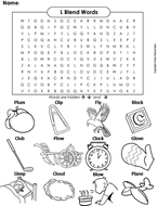 L Blends Word Search