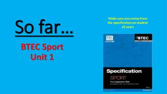 BTEC Sport Unit 1 Revision PPt