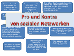 Soziale Netzwerke pro und kontra - allows students to learn the pros and cons of social networks.
