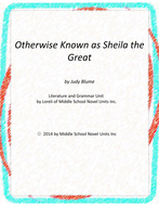Otherwise Known as Sheila the Great Unit with Literary and Grammar Activities