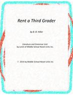 Rent a Third Grader Novel Unit with Literary and Grammar Activities