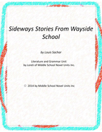 Sideways Stories From Wayside School Unit with Literary and Grammar Activities