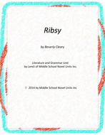 Ribsy Novel Unit with Literary and Grammar Activities