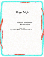 Stage Fright Novel Unit with Literary and Grammar Activities