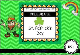 St. Patrick's Day Literacy  Workbook