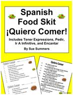 Spanish Food Skit / Speaking Activity Quiero Comer