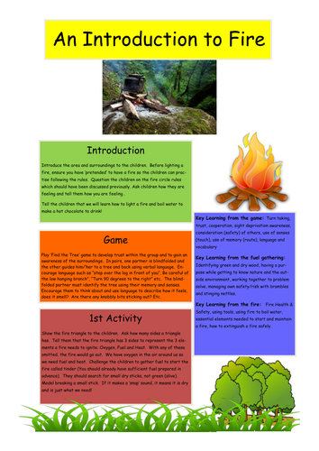Forest School: An Introduction to Making a Fire
